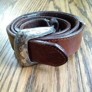 Fossil western style leather belt